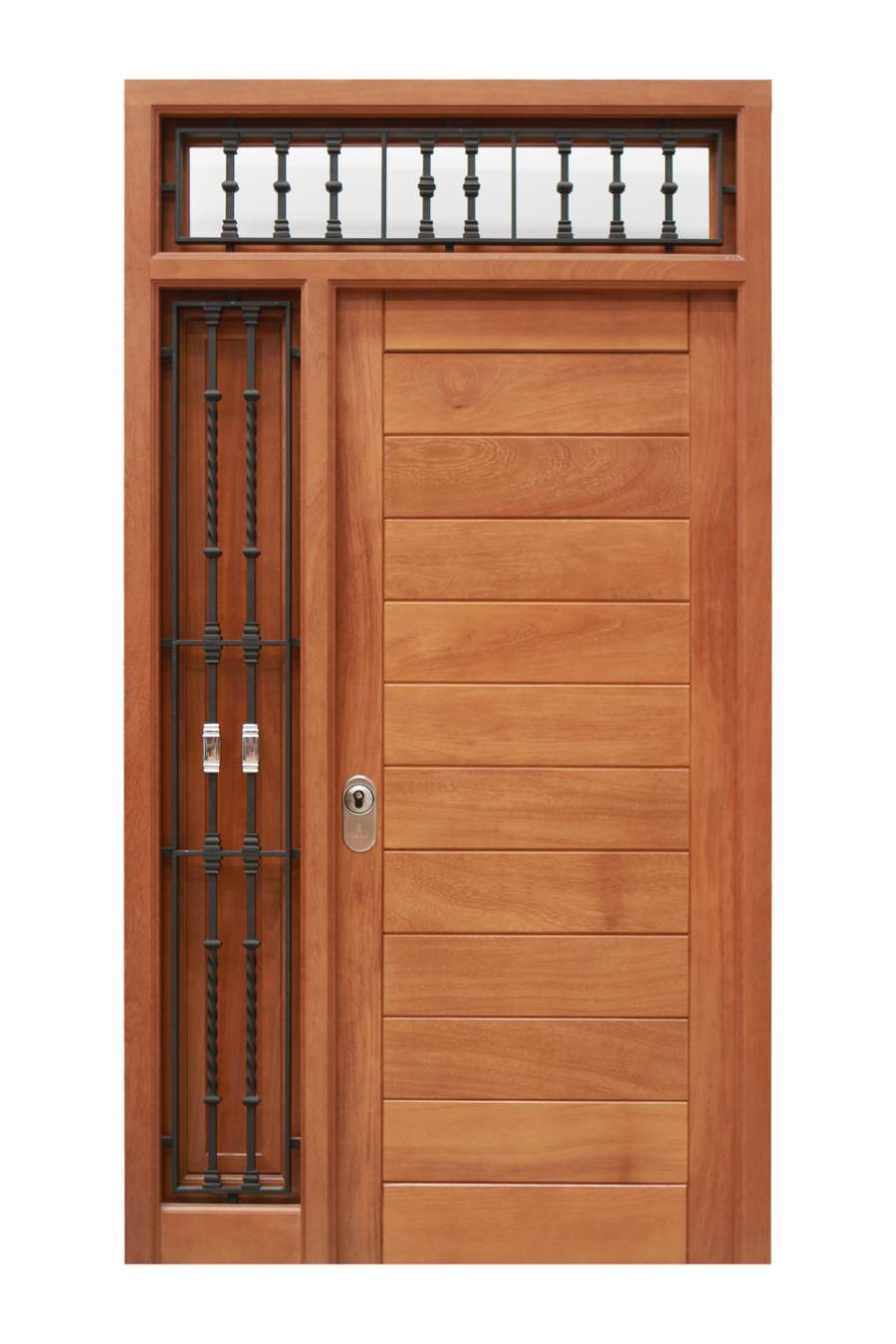 Puerta de calle de madera moderna MARCO Nº 5+HOJA P 2 - Puertas Cano