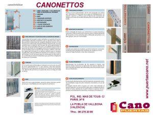 CARACTERISTICAS CANONETTOS